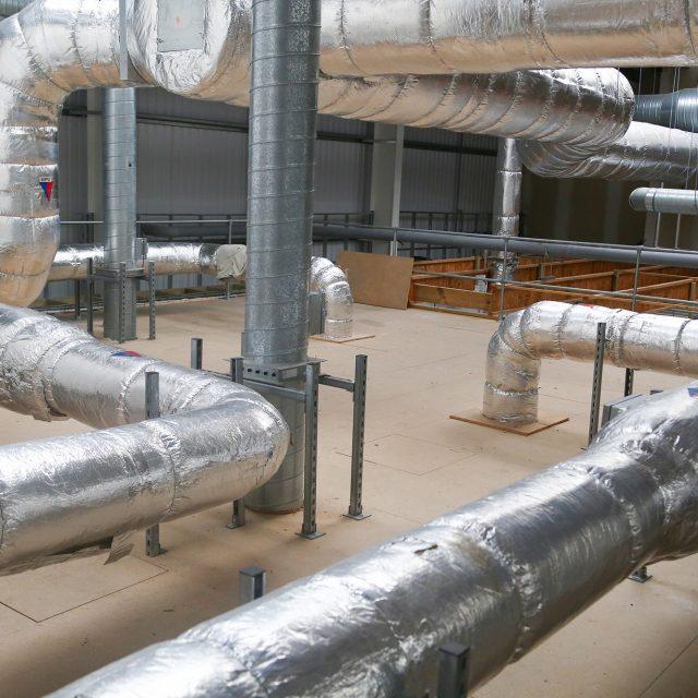 installed ventilation system