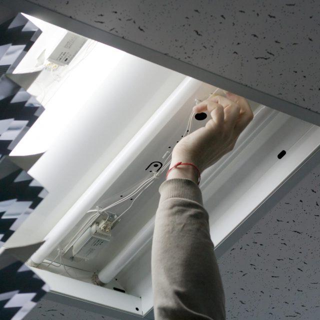 energy efficient LED lighting installation